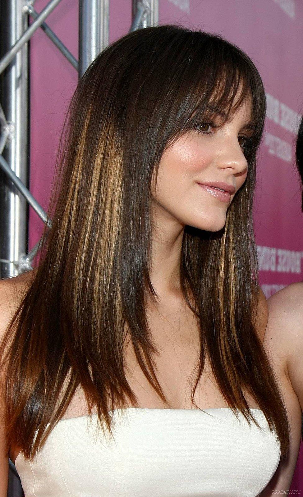 Стрижка Каскад на короткие средние длинные волосы с