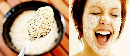 маска для лица из овсянки