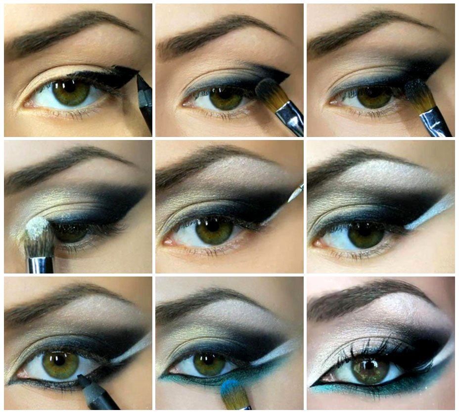 Макияж глаз пошаговое для зеленых глаз