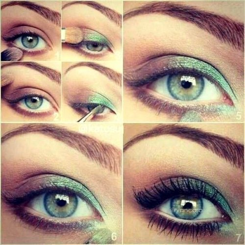 Makeup tips green
