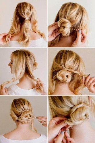 Причёски собранные сзади пошагово