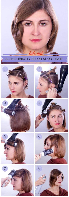 Как сделать самой прическу на короткие волосы видео