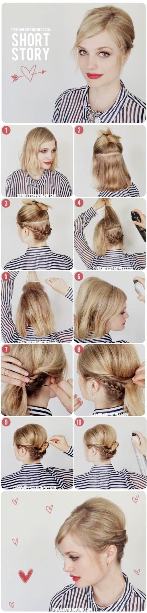 Прически своими руками пошагово на короткие волосы фото на каждый день