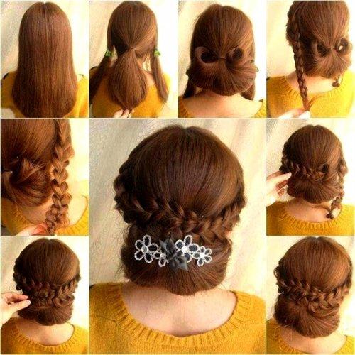 Красивые прически для волос средней длины