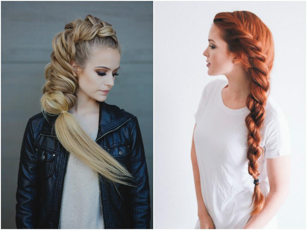 Причёска из косичек на очень длинные волосы