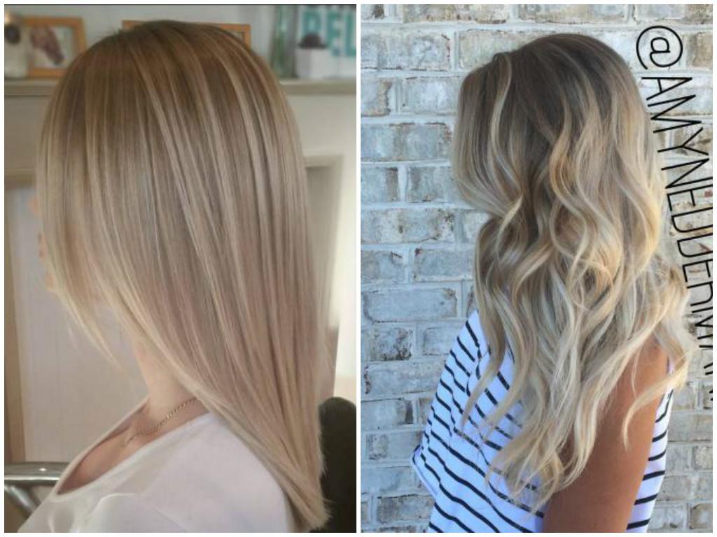 Окрашивание волос балаяж фото на светлые волосы