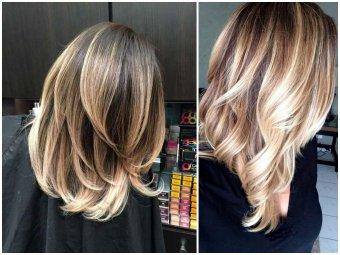 Сколько стоит окрашивание балаяж на средние волосы