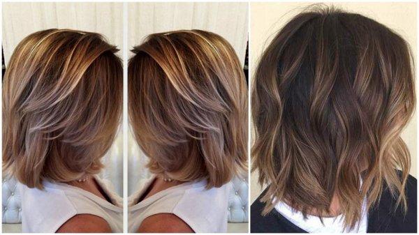 фото окраска волос средней длины
