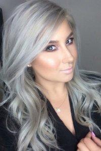 Пепельно белый цвет волос