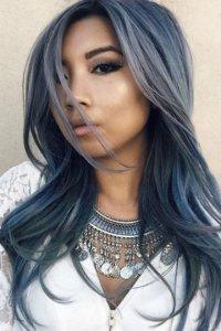 Цвет волос темный с пепельным