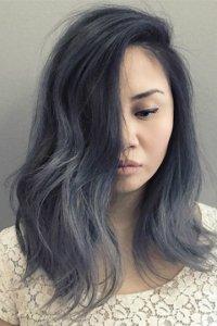 Чёрный с пепельным цвет волос