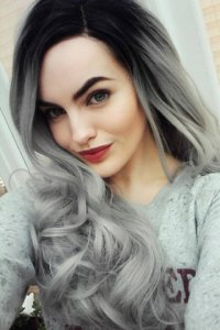 Фото стальной цвет волос