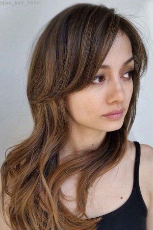 причёски для квадратного лица на длинные волосы фото