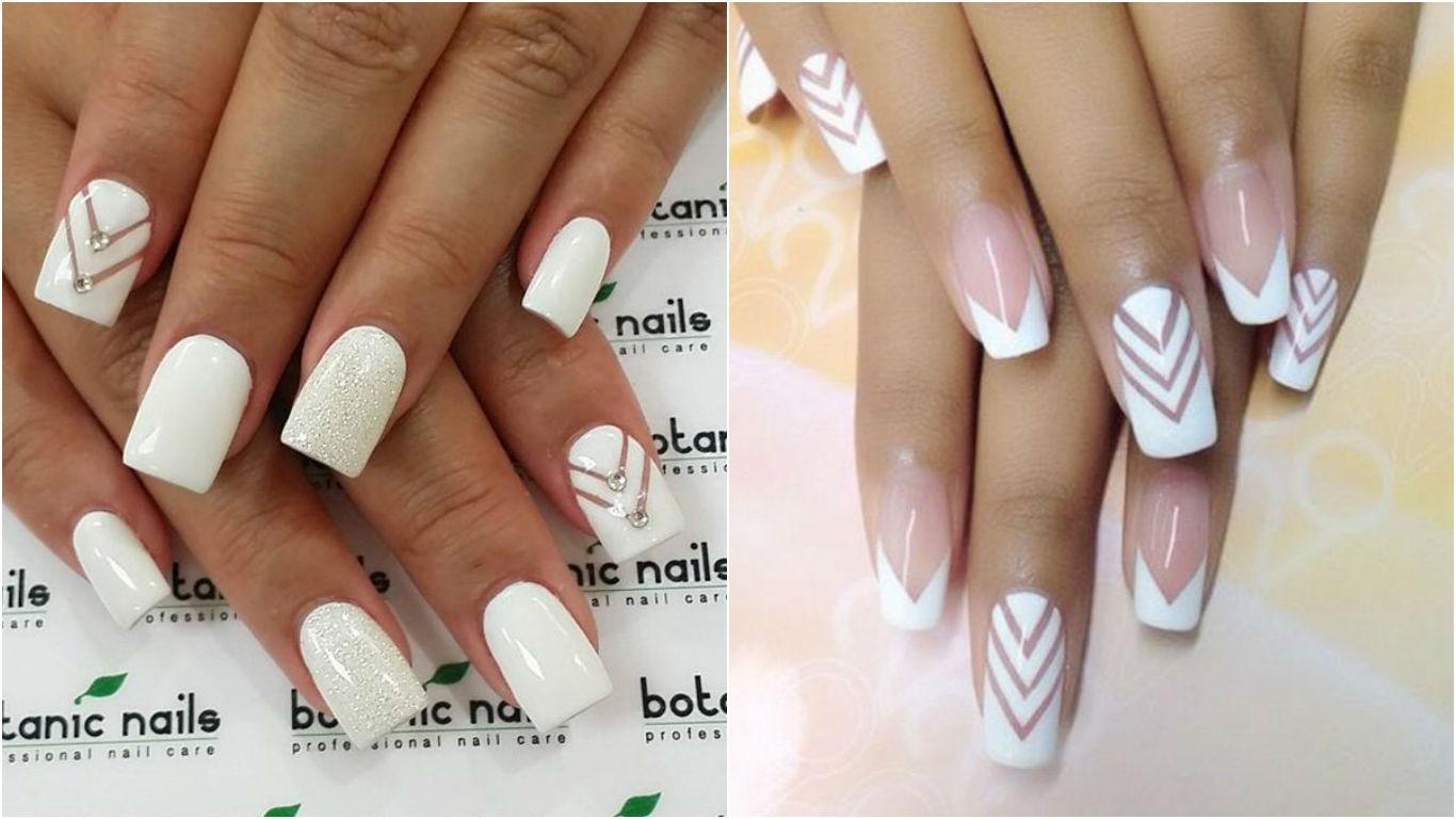 Белые длинные ногти 59