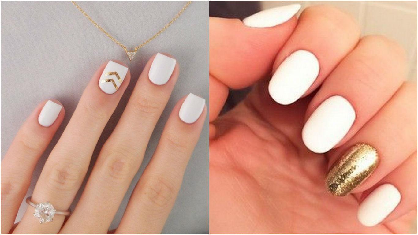 Красивый дизайн ногтей с белым лаком фото