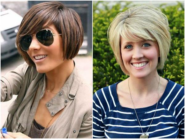 Многослойное каре на средние волосы