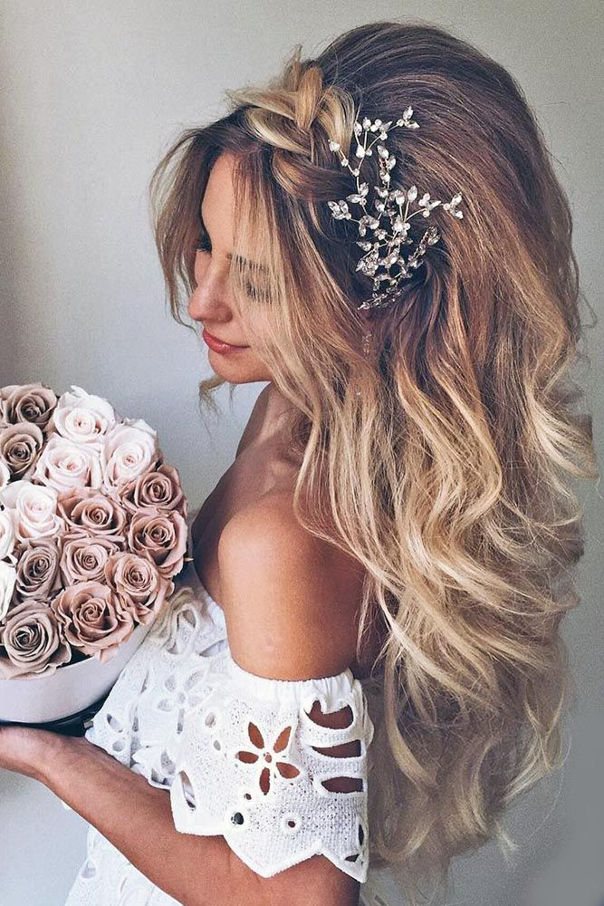 Свадебные украшения для волос: фото аксессуаров в прически