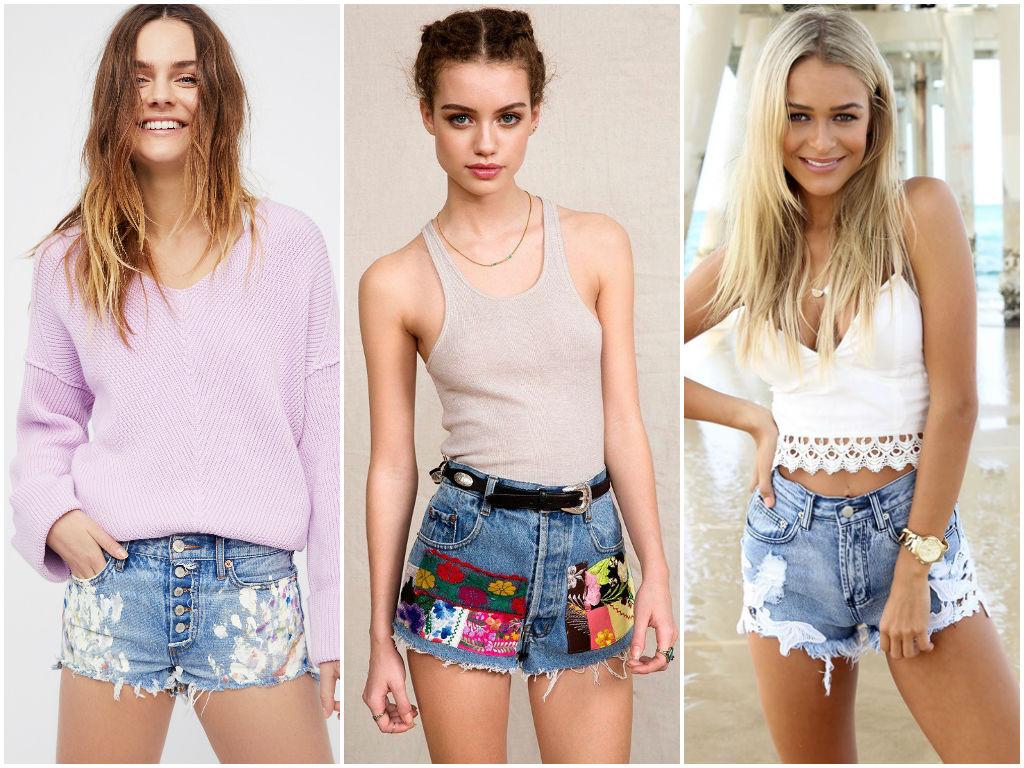 Модные джинсовые шорты женские весна - лето 2018   Фото 6e8e703aff7