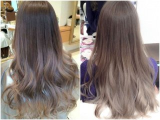 Пепельно русый цвет волос фото до и после