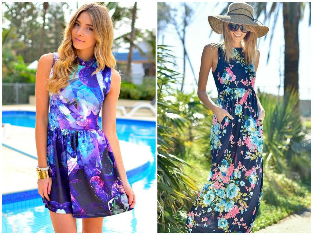 Пляжные платья и сарафаны весна-лето 2014 новые фото