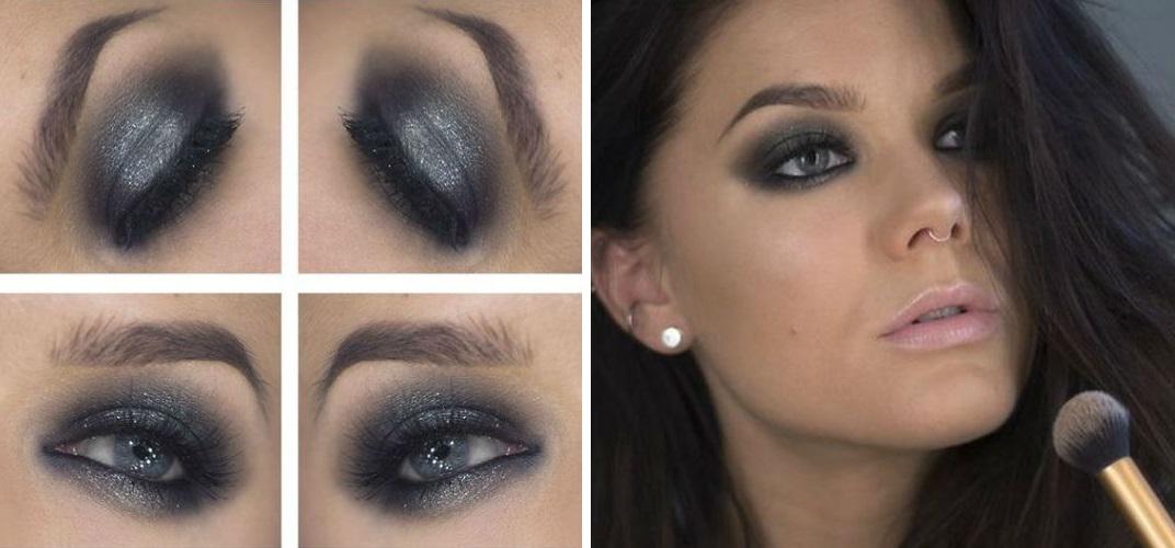 Идея макияжа для серых глаз