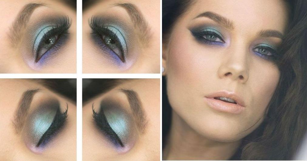 Макияж для голубых глаз: правила, фото, пошаговые
