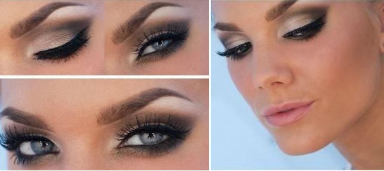 Свадебный макияж для серого голубых глаз