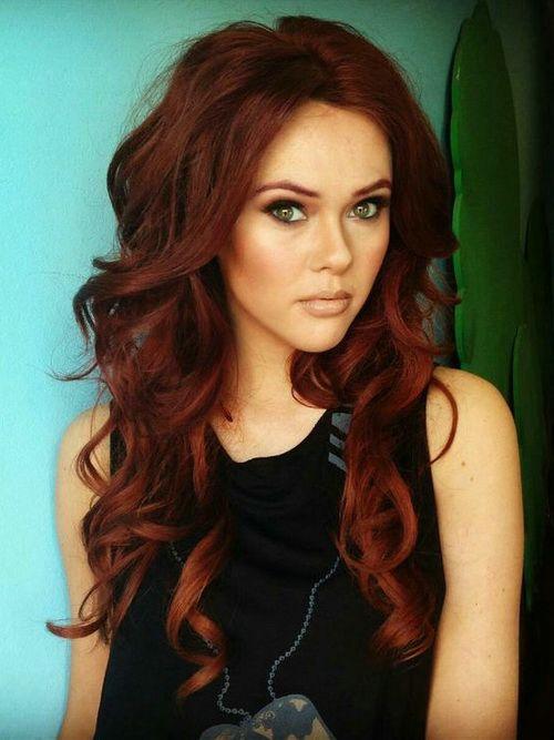 Цвет волос шоколадный с рыжим оттенком
