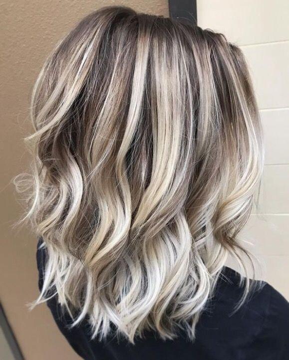 Модное окрашивание на средние русые волосы