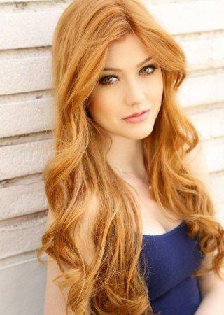 Нежно-рыжий цвет волос