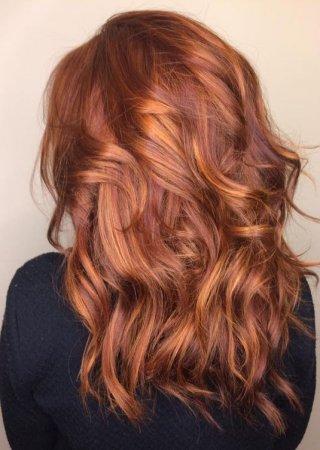 балаяж рыжий на короткие волосы