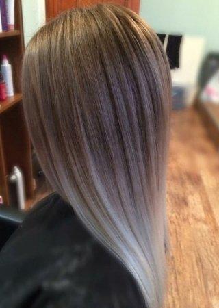мелирование пепельным цветом на русые волосы фото