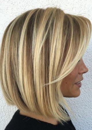 Мелирование на средние волосы фото