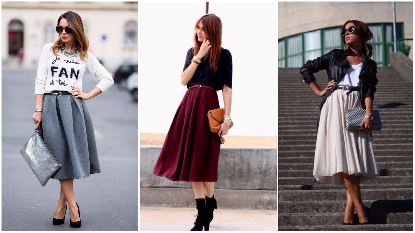 Длинные юбки осень зима
