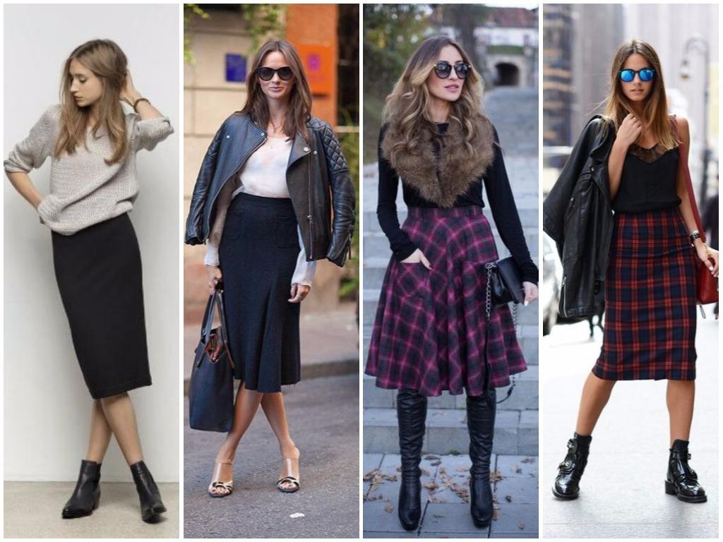 Модные юбки зима