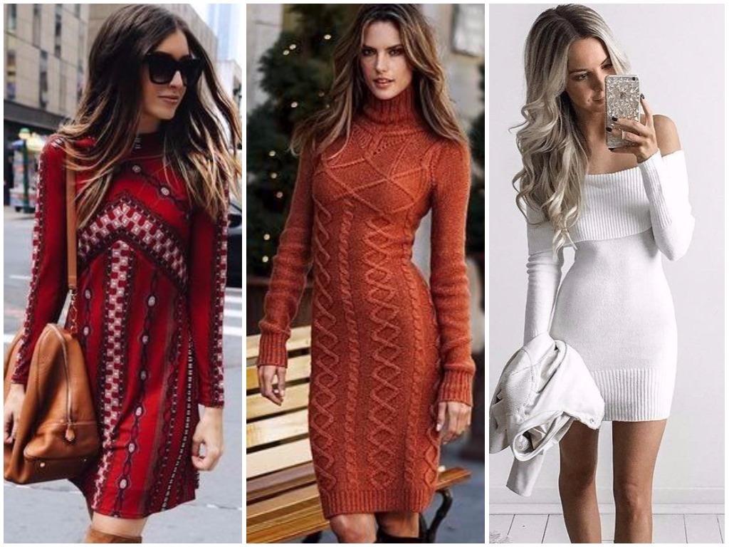 451453ffa83 Модные платья осень - зима 2018-2019