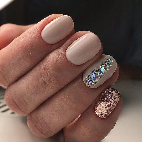Свадебный маникюр гель лаком 2018 фото