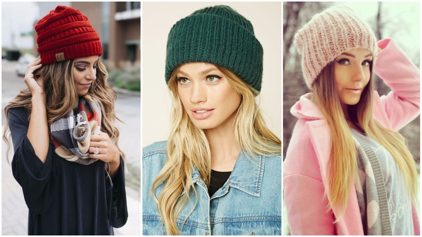 Вязание спицами для женщин модные шапки 2018 года 38