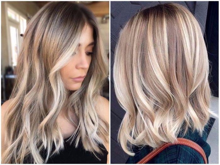 Модное осветление волос 2018 фото