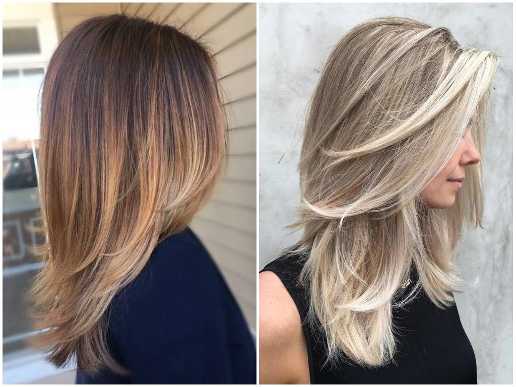 Мелирование на русые волосы средней длины (57 фото): модные ... | 768x1024