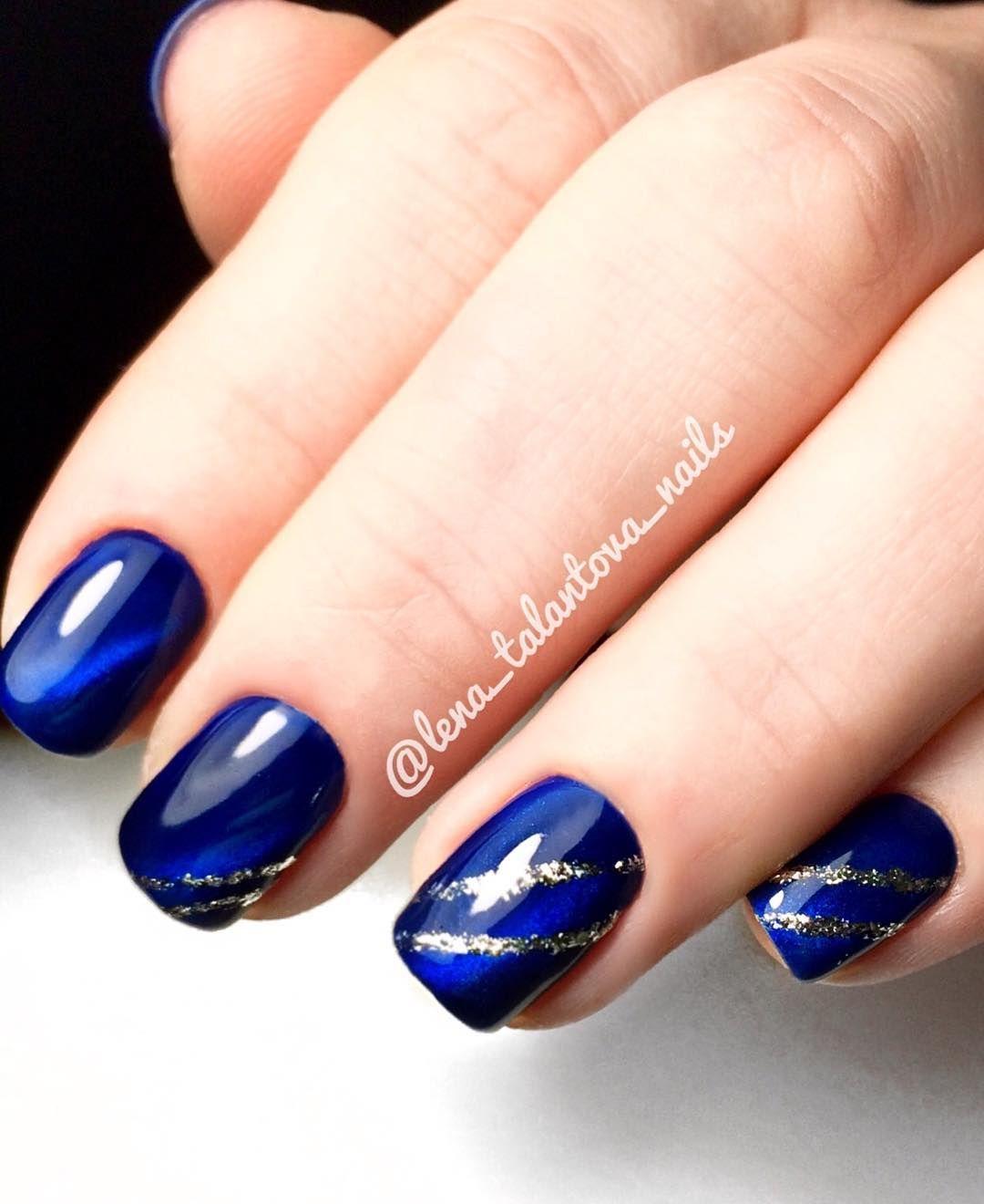 Ногти синий дизайн фото новинки