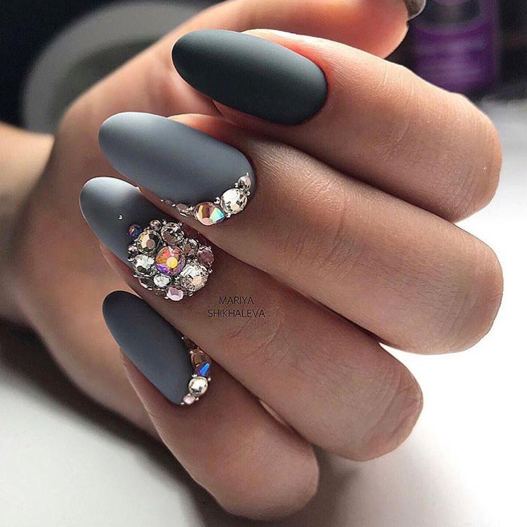 Нарощенные ногти дизайн 2018 фото черных