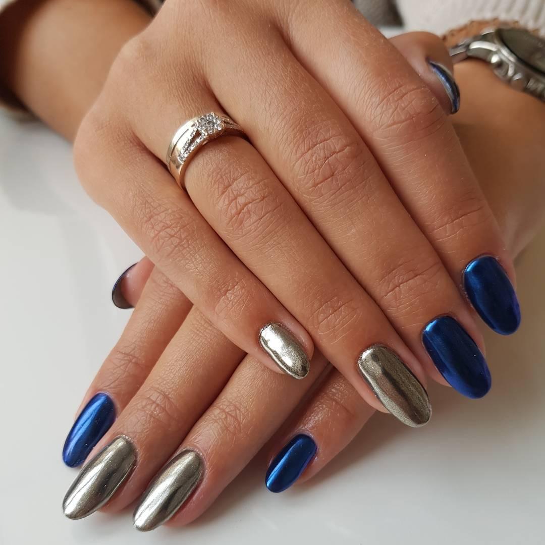 Дизайн ногтей втиркой фото