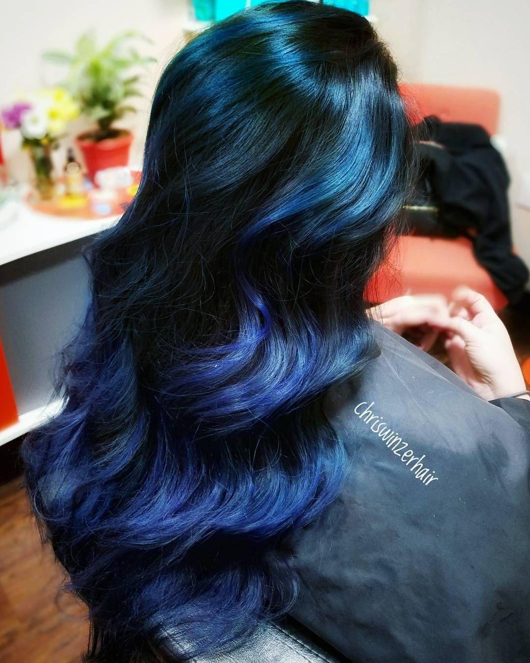 Чем подкрасить в синий цвет