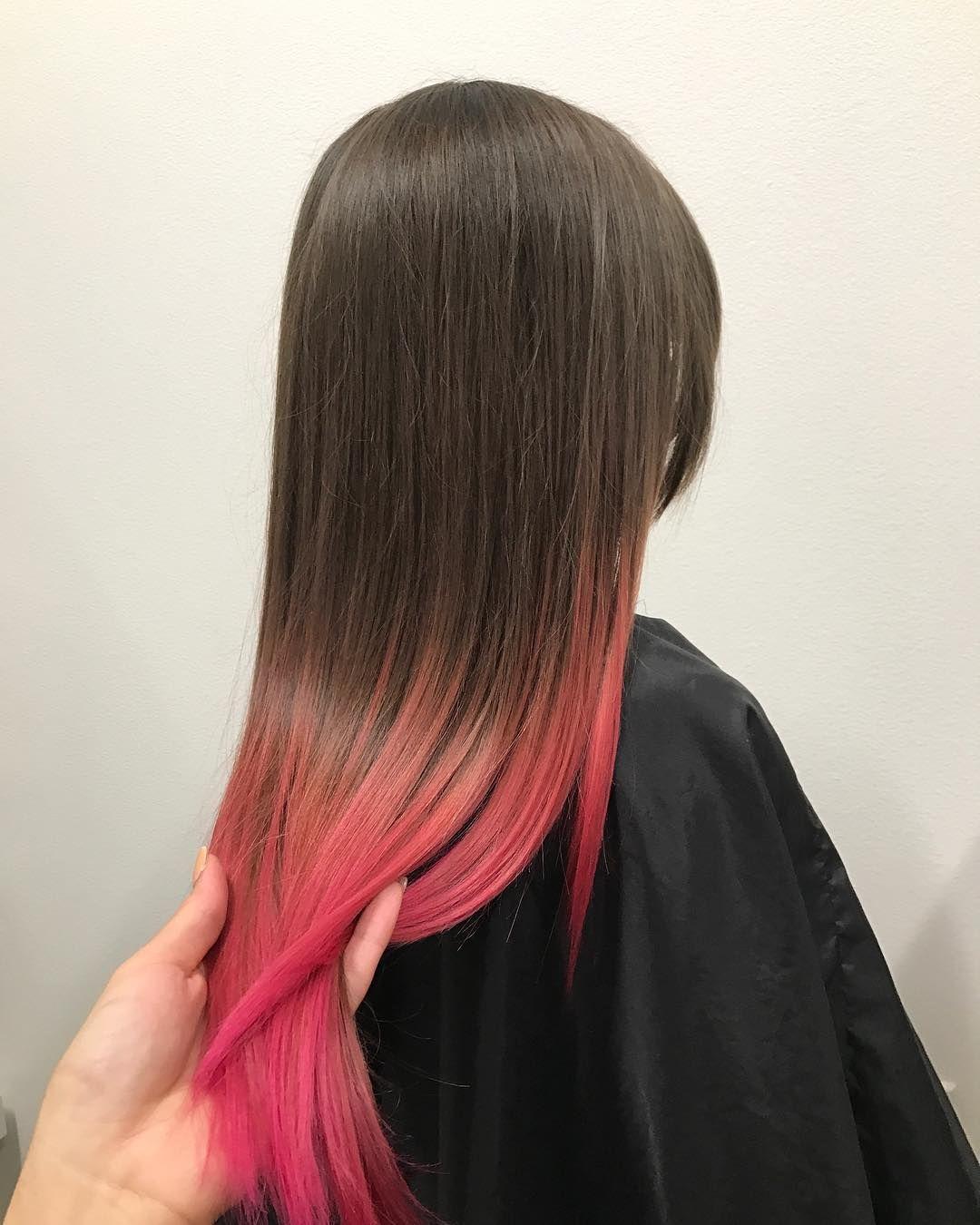 Покрасить волосы в амбре