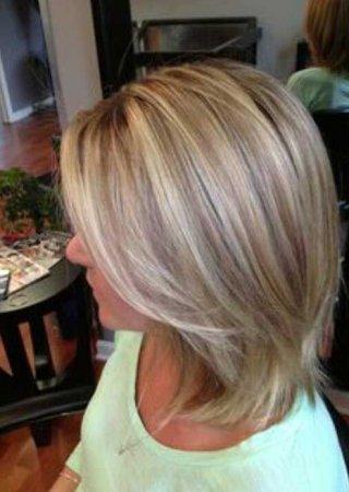 Мелирование и тонирование на светлые волосы фото